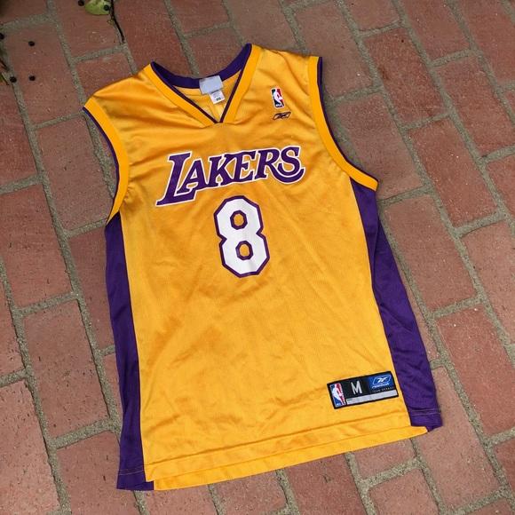 purchase cheap b7969 218da Vintage Kobe Bryant Lakers Jersey Reebok M #8